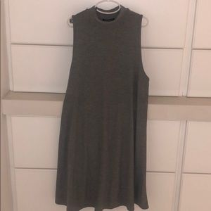 Mini turtle neck sleeveless dress